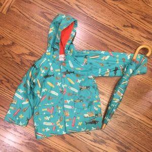 Hatley raincoat and umbrella